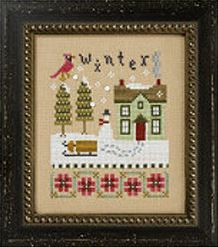 click here to view larger image of Winter - Four Seasons Flip-It (chart with charms/buttons)