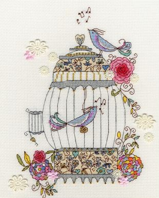 click here to view larger image of Love Birds (counted cross stitch kit)