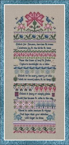 click here to view larger image of Rhyme and Reason (chart with charms/buttons)