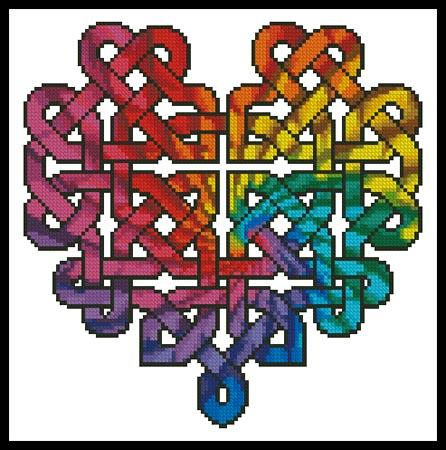 click here to view larger image of Celtic Fractal Heart (chart)