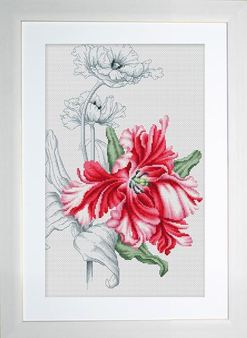 click here to view larger image of Red Tulip (counted cross stitch kit)