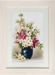 click here to view larger image of Lilac and Jasmine (counted cross stitch kit)