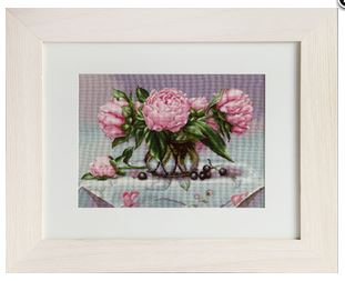 click here to view larger image of Vase of Peonies (counted cross stitch kit)