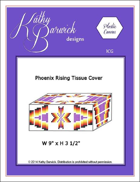 click here to view larger image of Phoenix Rising Tissue Box Cover (chart)