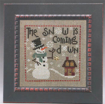 click here to view larger image of Snow is Coming Down, The (includes embellishment) (chart with charms/buttons)