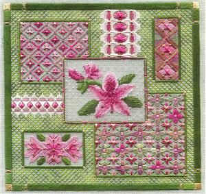 click here to view larger image of Azalea Collage (counted canvas chart)