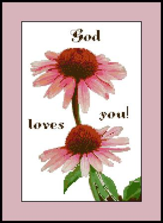 click here to view larger image of God Loves You Sampler (chart)
