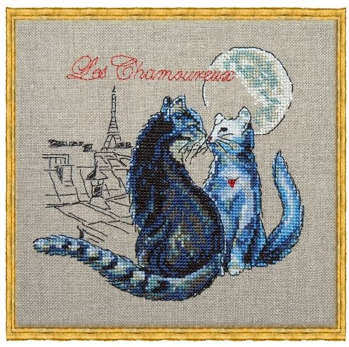 click here to view larger image of a-Les Chamoureux (counted cross stitch kit)