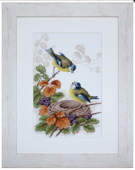 click here to view larger image of Birds in Nest (counted cross stitch kit)