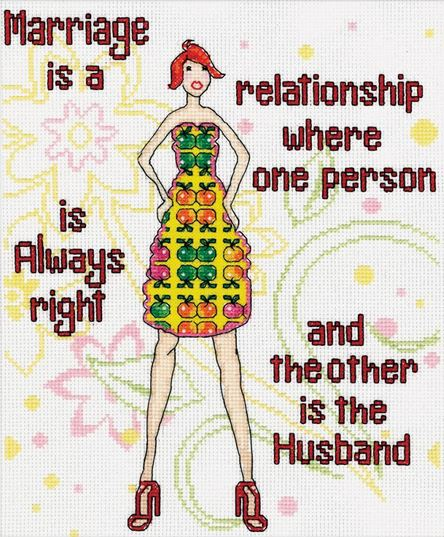 click here to view larger image of Marriage (counted cross stitch kit)