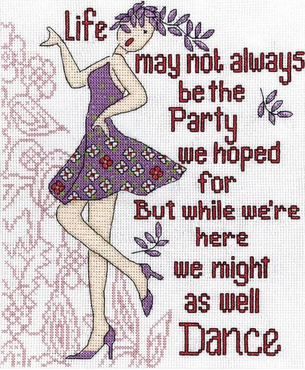 click here to view larger image of Dance Party (counted cross stitch kit)
