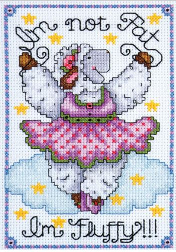 click here to view larger image of Fluffy (counted cross stitch kit)