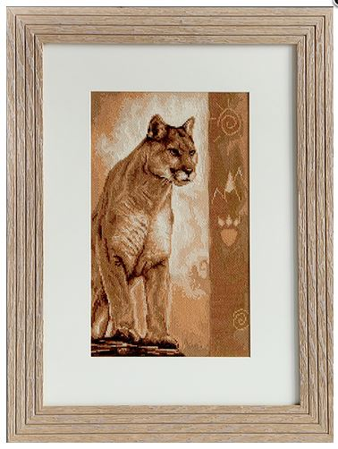 click here to view larger image of Cougar 2 (counted cross stitch kit)