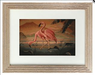 click here to view larger image of Couple of Flamingos (counted cross stitch kit)