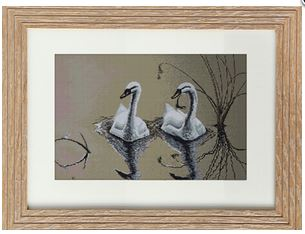 click here to view larger image of Couple of Swans (counted cross stitch kit)