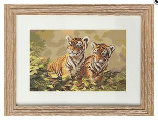 click here to view larger image of Tiger Cubs (counted cross stitch kit)