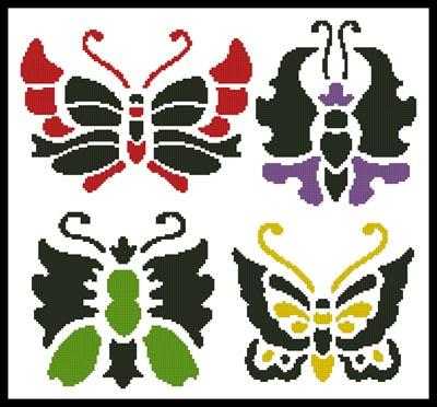 click here to view larger image of Asian Butterfly Set (chart)