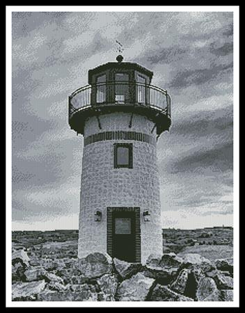 click here to view larger image of Black and White Lightehouse (chart)