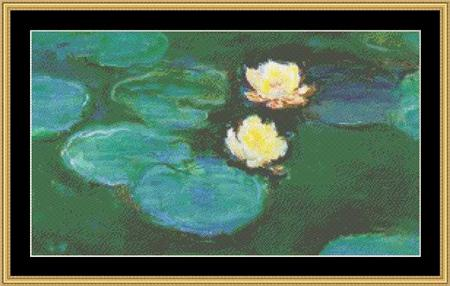 click here to view larger image of Water Lilies III - Great Masters Collection (chart)