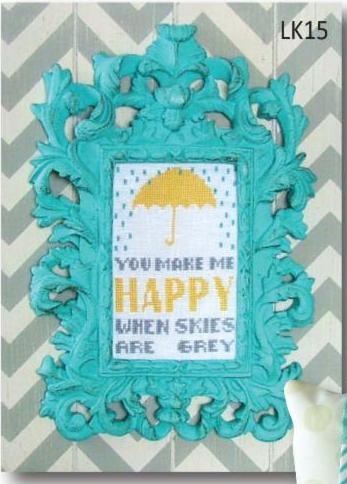 click here to view larger image of You Make Me Happy - Linen kit (counted cross stitch kit)