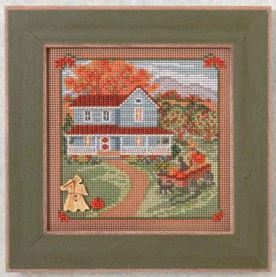 click here to view larger image of Harvest Home - Country Lane series (counted cross stitch kit)