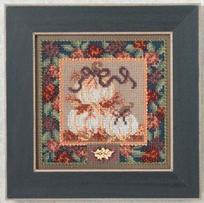 click here to view larger image of White Pumpkins (counted cross stitch kit)