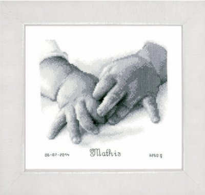 click here to view larger image of Baby Hands (counted cross stitch kit)
