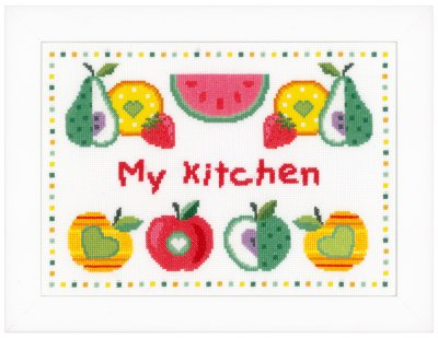 click here to view larger image of Fruits in Kitchen (counted cross stitch kit)