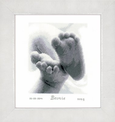 click here to view larger image of Baby Feet (counted cross stitch kit)