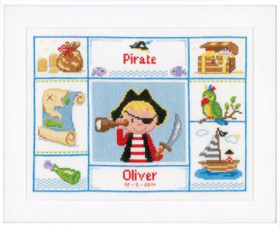 click here to view larger image of One Eyed Pirate (counted cross stitch kit)