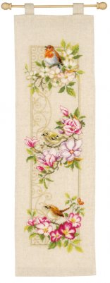 click here to view larger image of Birds and Blossoms (counted cross stitch kit)