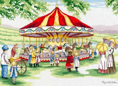 click here to view larger image of Countryside Carousel (All Our Yesterdays) (counted cross stitch kit)