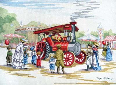 click here to view larger image of Steam Engine (All Our Yesterdays) (counted cross stitch kit)
