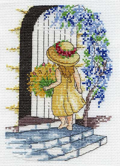 click here to view larger image of Wisteria (All Our Yesterdays) (counted cross stitch kit)