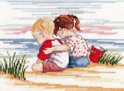 click here to view larger image of Sibling Love (All Our Yesterdays) (counted cross stitch kit)
