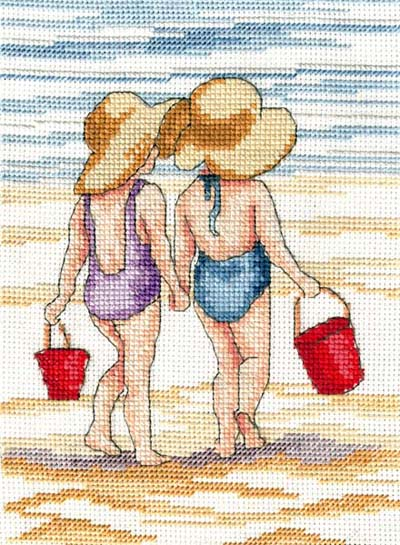 click here to view larger image of Red Buckets (All Our Yesterdays) (counted cross stitch kit)
