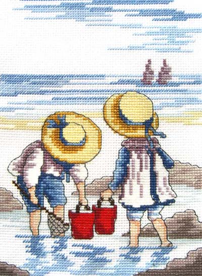 click here to view larger image of Rock Pooling (All Our Yesterdays) (counted cross stitch kit)