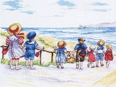 click here to view larger image of To The Beach We Go  (All Our Yesterdays) (counted cross stitch kit)