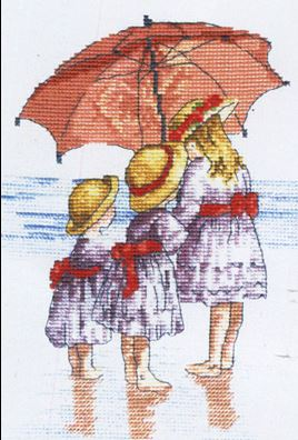 click here to view larger image of Three Girls  (All Our Yesterdays) (counted cross stitch kit)