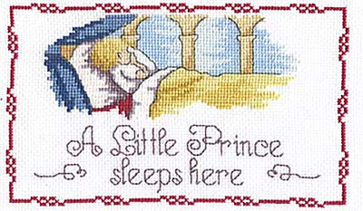 click here to view larger image of Little Prince Sleeps Here (All Our Yesterdays) (counted cross stitch kit)