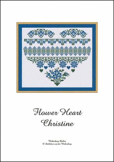 click here to view larger image of Flower Heart Christine (chart)