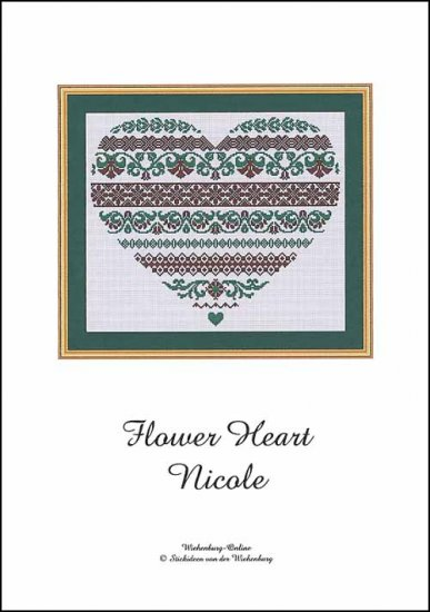 click here to view larger image of Flower Heart Nicole (chart)