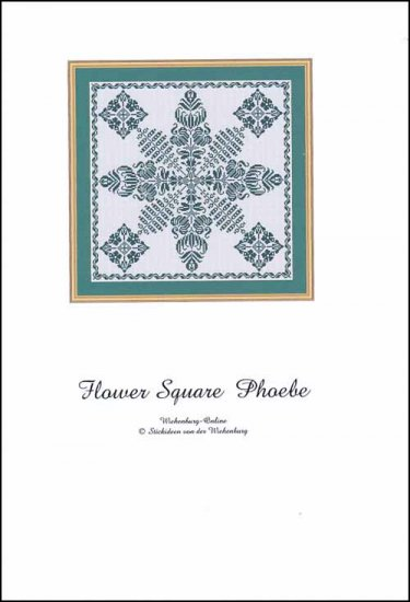 click here to view larger image of Flower Square Phoebe (chart)