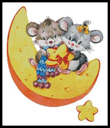 click here to view larger image of Mice on a Cheese Moon (chart)