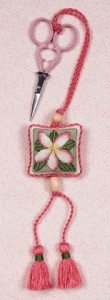 click here to view larger image of Plumeria Scissors Fob (counted cross stitch kit)