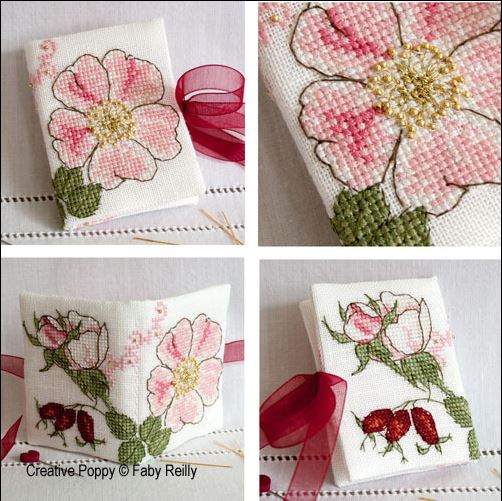 click here to view larger image of Wild Rose Needlebook (chart)