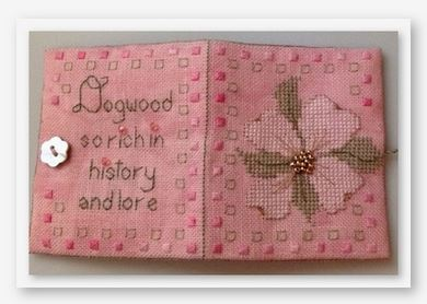 click here to view larger image of Delicate Dogwood Needle Book (counted cross stitch kit)