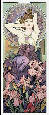 click here to view larger image of Amethyst - Alphonse Mucha (chart)