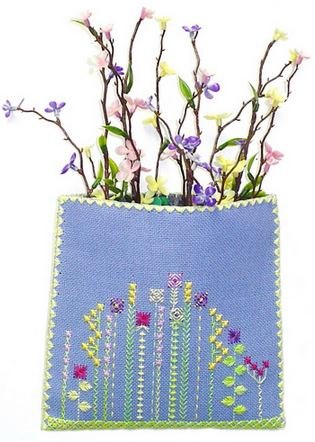 click here to view larger image of Wildflowers Pocket (counted canvas chart)