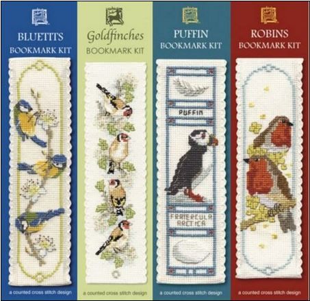 click here to view larger image of Bird Bookmarks (counted cross stitch kit)